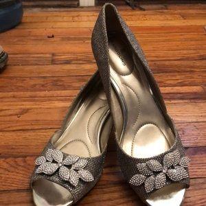 Bandolino diamond encrusted open toe